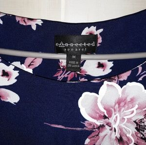 Beautiful blue and pink floral dress